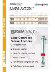 Load Controlled Sleeve Anchors - RGA and PSM Fasteners