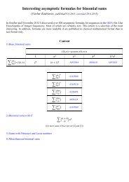 Interesting asymptotic formulas for binomial sums