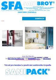 Návod pro instalaci a používání sanitárního čerpadla