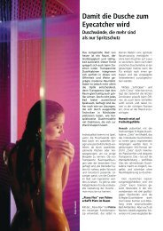 Damit die Dusche zum Eyecatcher wird - SanitärJournal