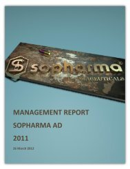 MANAGEMENT REPORT SOPHARMA AD 2011 - eXtri.bg
