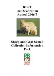 and the RBST would need to be - Rare Breeds Survival Trust