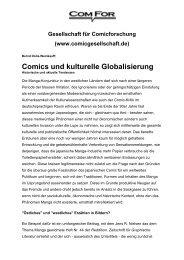 Comics und kulturelle Globalisierung - Gesellschaft für ...