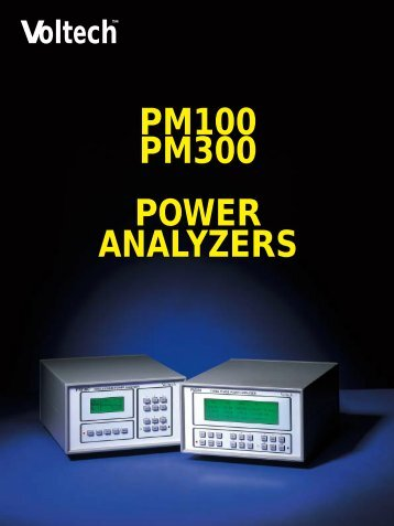 PM300 Power Analyser Brochure - Westek Electronics