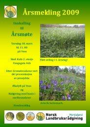 Årsmeldinga 2009 - Norsk Landbruksrådgiving Hordaland