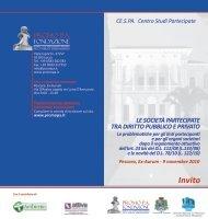 Invito al Convegno Le Società Partecipate tra diritto ... - Ambiente Spa