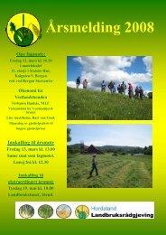 2008 Årsmelding - Norsk Landbruksrådgiving Hordaland