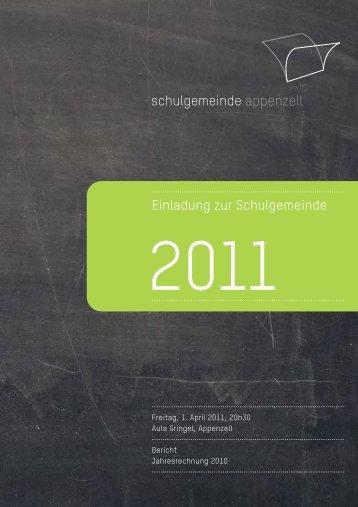 Einladung zur Schulgemeinde - Schulgemeinde Appenzell