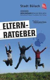Elternratgeber - Suchtprävention Zürcher Unterland