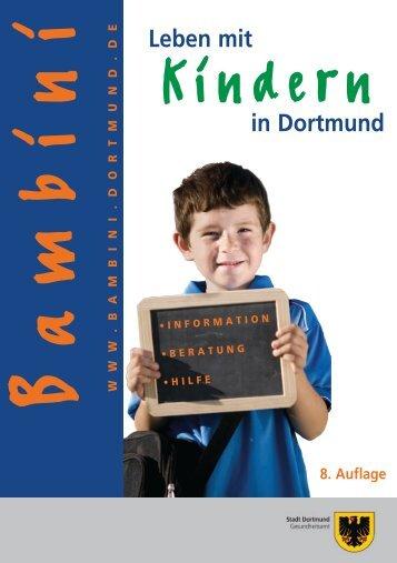 Bambini 8. Auflage - Kontakt- und Beratungsführer für ... - Dortmund.de