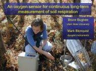 An oxygen sensor for continuous long-term measurement of soil ...