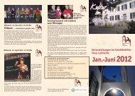 Veranstaltungen im Gewölbekeller Haus Letmathe - Iserlohn