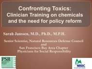 Confronting Toxics t.. - SF Bay PSR