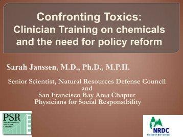 Confronting Toxics t.. - SF Bay PSR