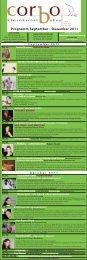 Programm September - Dezember 2011 - Corbo