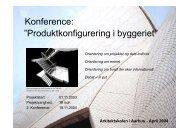 Velkomst og formål med konferencen - Produktkonfigurering i ...
