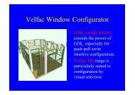 Velfac Window Configurator