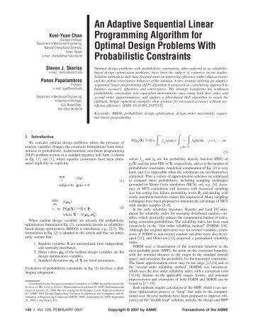 An Adaptive Sequential Linear Programming Algorithm for Optimal ...