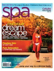 Spa Magazine - August 2010 - Great Jones Spa