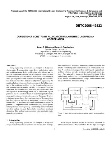 Consistency Constraint Allocation in Augmented Lagrangian ...