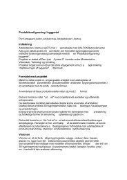 Produktkonfigurering i byggeriet Indledning Formålet med projektet ...