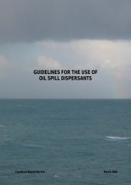 Guidelines for the Use of Oil Spill Dispersants