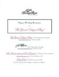 Elegant Wedding Receptions - Turnip Rose