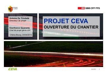Projet CEVA - ouverture du chantier Chêne-Bourg