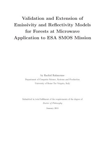 Validation and Extension of Emissivity and Reflectivity Models for ...
