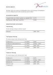 Overzicht rentetarieven - Staalbankiers