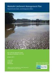 Waiotahi Catchment Management Plan - Bay of Plenty Regional ...