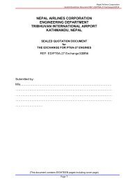 Draft Quotation Document _PT6A-27_edited4May - Nepal Airlines