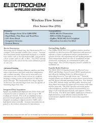 Wireless Flow Sensor Flow Sensor One (FS1) - Electrochem Solutions