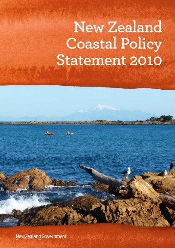 New Zealand Coastal Policy Statement 2010 - Department of ...