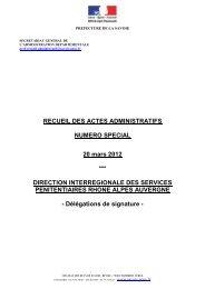 20 mars 2012 - Préfecture de la Savoie