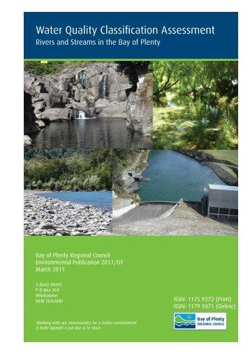 Water Quality Classification Assessment - Bay of Plenty Regional ...