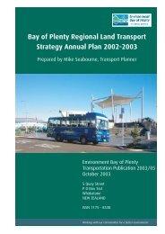 Bay of Plenty Regional Land Transport Strategy