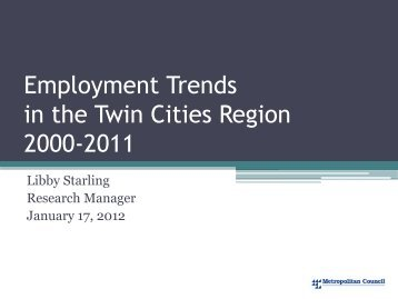 2011 Employment Data - Metropolitan Council - Meeting Agendas ...