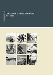 2001–2002 new zealand game industry board - Deer Industry New ...
