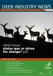 Deer Industry News #32 October 2008 - Deer Industry New Zealand