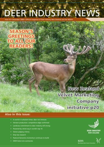Deer Industry News - Deer Industry New Zealand