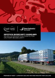 Drystock biosecurity guidelines - Beef + Lamb New Zealand
