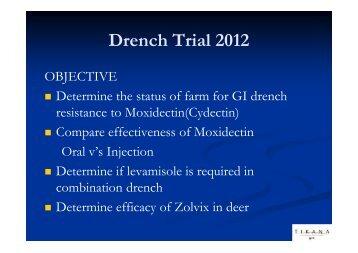 Te Anau Drench Trial