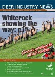 Deer Industry News #39 December 2009 - Deer Industry New Zealand
