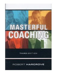 chapter - Masterful Coaching