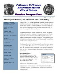 Police and Fire 1999 August Issue - detroit police & fire retirement ...