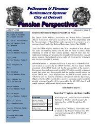 Policemen & Firemen Retirement System City of Detroit