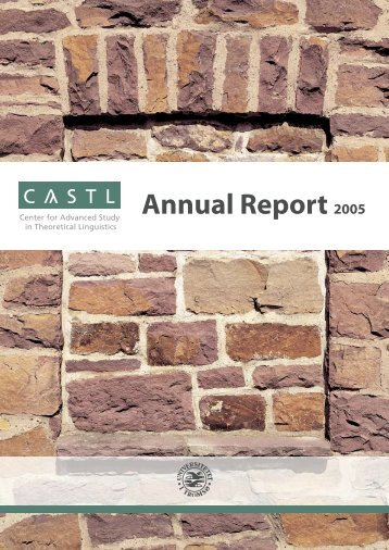 click here for the annual report 2005 - Paula Fikkert