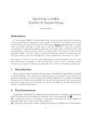Mini-Projet d'AMEA Synth`ese de Karplus Strong - ENSEA