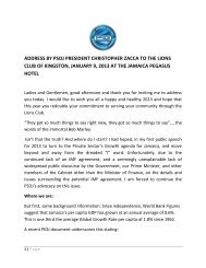 address by psoj president christopher zacca to the lions club of ...